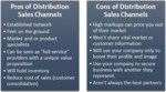 Pros and Cons of Distributor Sales Channels to Market